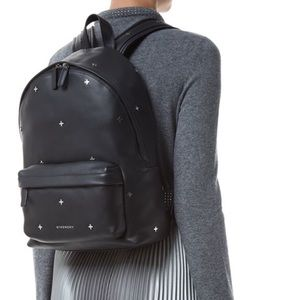 Givenchy Metal Cross Black Leather Backpack Large